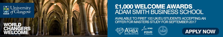 University of Glasgow Featured Masters Courses