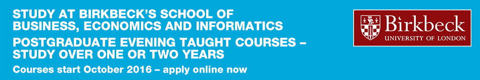 Birkbeck, University of London Featured Masters Courses