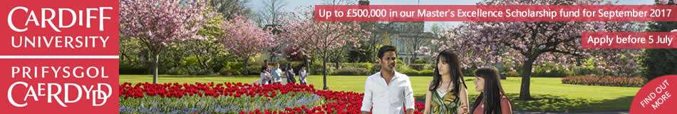 Cardiff University Featured Masters Courses