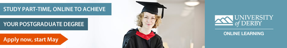 University of Derby Online Learning Featured Masters Courses