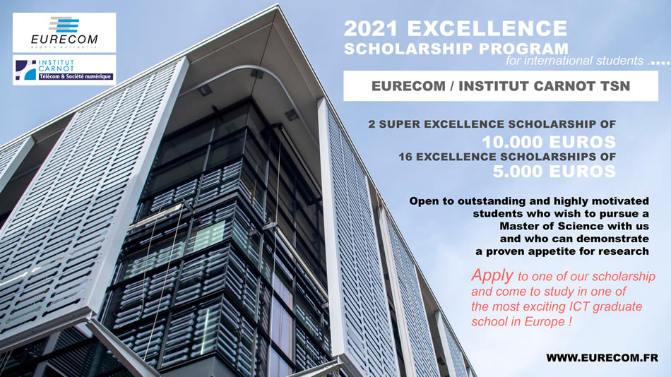 EURECOM / Carnot TSN Excellence scholarship program