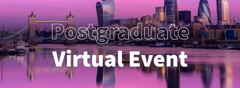 Join our Postgraduate Virtual Open Evening Open Day