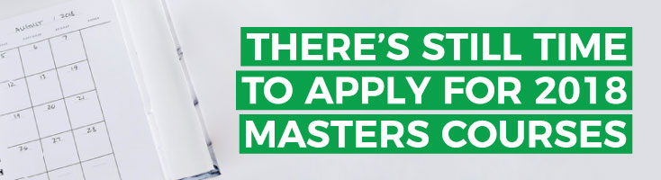 Search 2016 Masters courses with places still available
