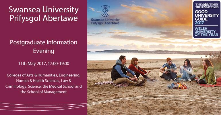 Swansea University Postgraduate Information Evening, 11 May 2017